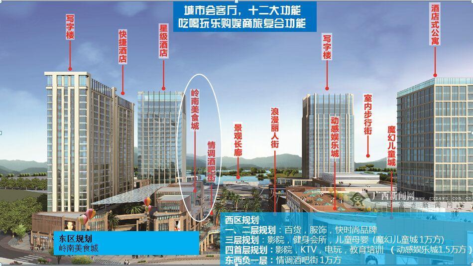 南宁三祺广场手绘标志