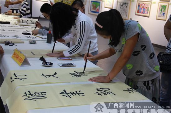 """八桂画童""""美术,书法,摄影大赛优秀作品展在广西美术出版社美术馆隆重图片"""
