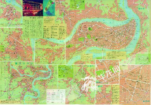 新版《重庆城区及周边地图》发布 首次将两江新区完全