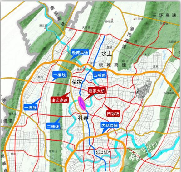 [内畅外联]蔡家嘉陵江大桥今日开工 北碚到照母山片区