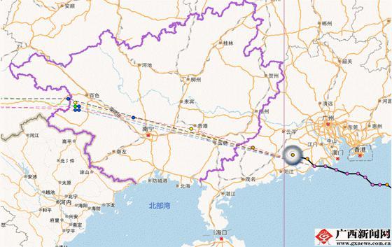据广西渔业安全应急中心报告,截至23日10时30分,我区在海南岛,雷