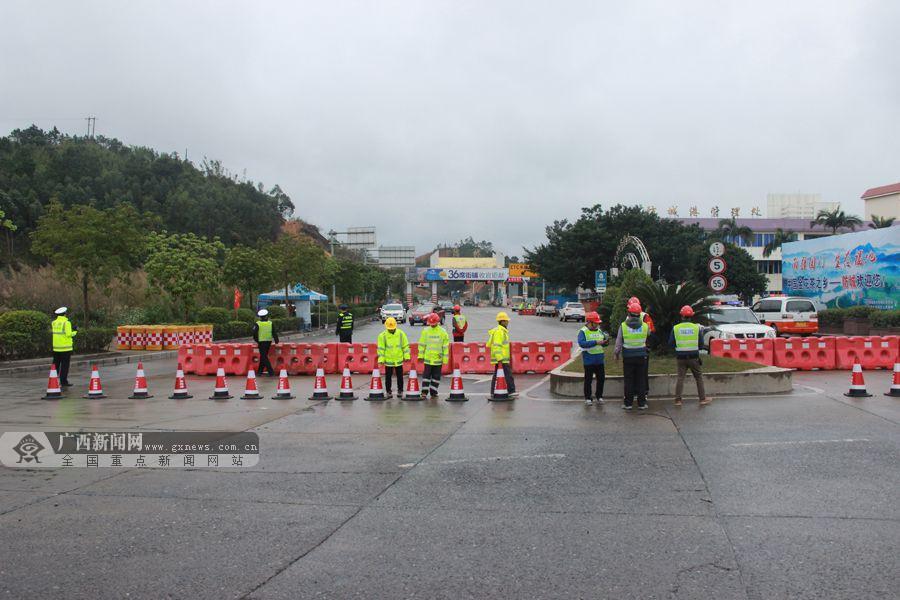 兰海高速路防城收费站封闭施工 预计8月底重新开通