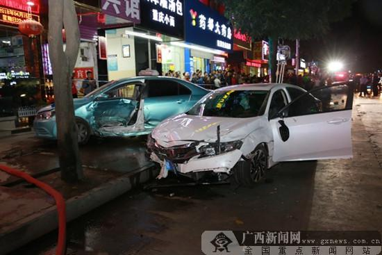 本田思域事故车祸