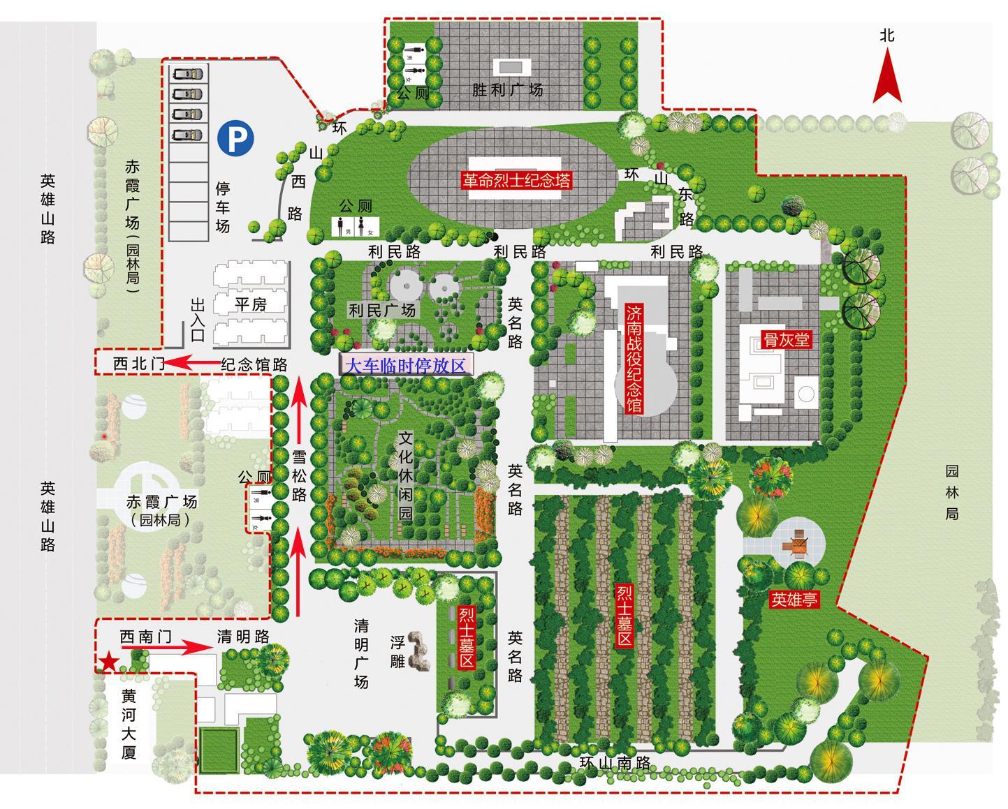 大家族陵园设计图