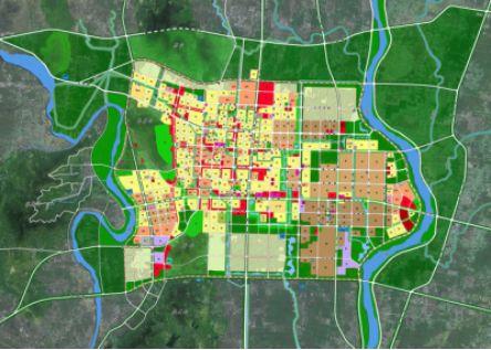 临沂城区行政地图